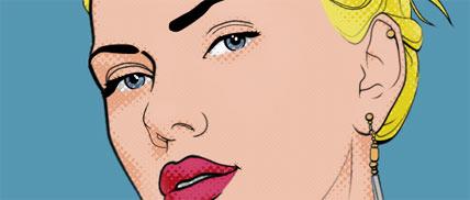 ako robit pop art tutorial, komixovo vyzerajuci obrazok