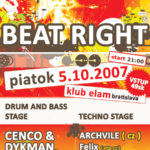 beat right – 5.10.2007 – klub elam