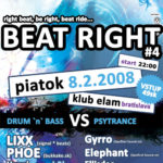 Beat Right #4 – dnb VS psytrance – first info
